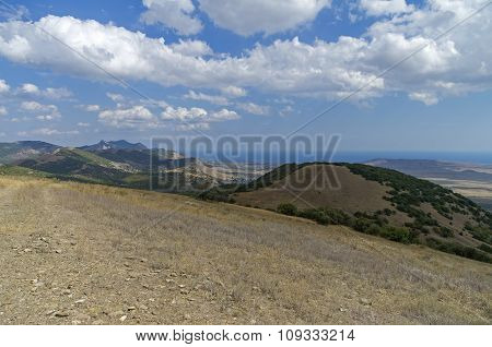 View From The Top Of A Mountain. Crimea.