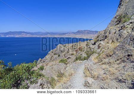 The Path On The Hillside Above The Sea.