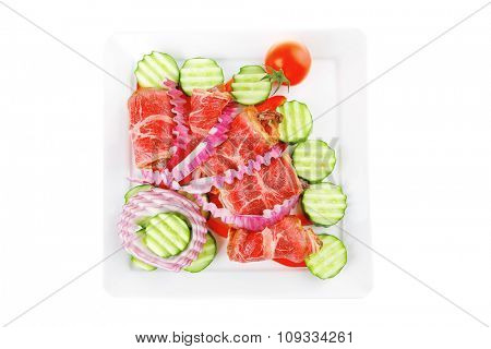 fresh roasted meat rolls on white platter