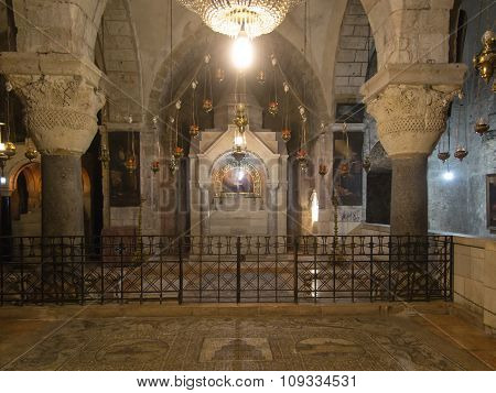 jerusalem, Israel - July 15, 2015: One Of The Chapels Within The Basilica Of The Holy Sepulchre In