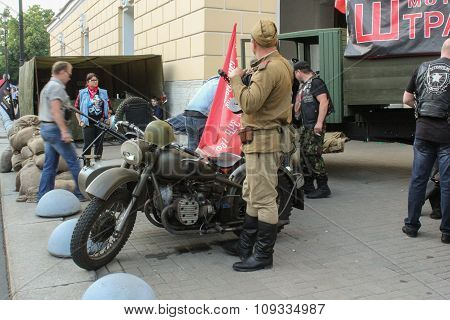 German Military Motorcycle On The Bike Show.