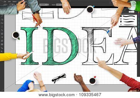 Idea Editing Program Application Interface Concept