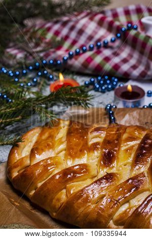Pie With Apples And Cheese