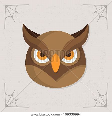 Owl Head icon vector