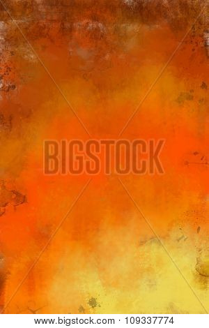 Art abstract painted brown and orange background