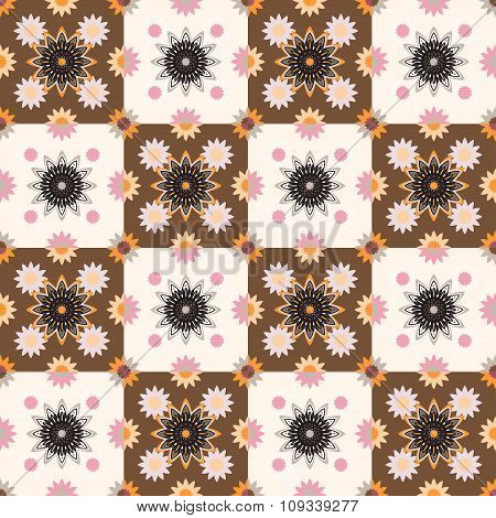 Seamless pattern design with ornament
