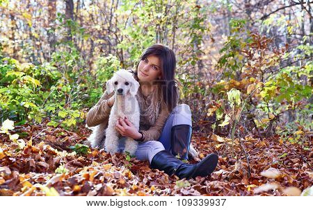 A Girlwith Her Dog