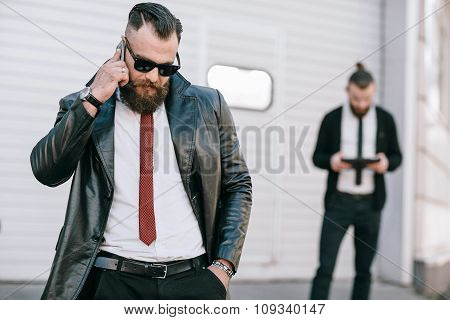 business man outside