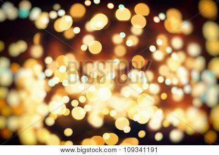 Abstract Festive Background. Glitter Vintage Lights Background