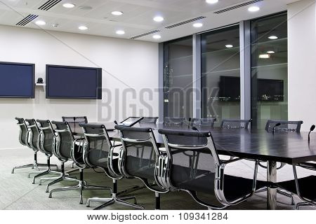 Office room ready for a conference call
