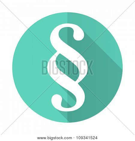 paragraph blue web flat design circle icon on white background