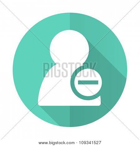 remove contact blue web flat design circle icon on white background