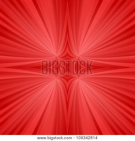 Red mirror symmetric ray background
