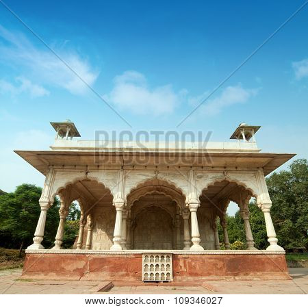 Architectural inside Red Fort in Delhi, India