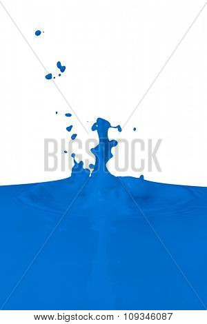 blue paint splashing isolated on white