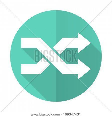 aleatory blue web flat design circle icon on white background