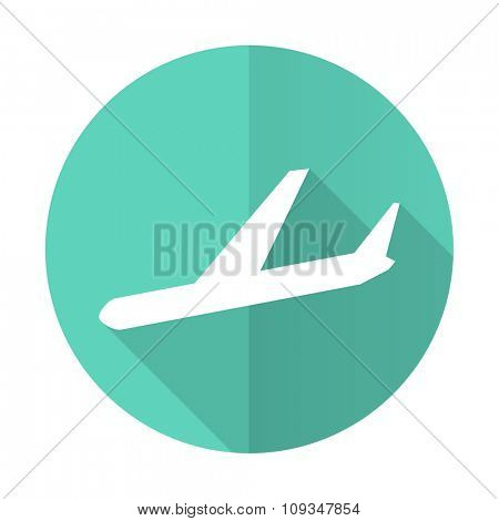 arrivals blue web flat design circle icon on white background
