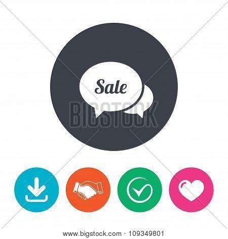 Speech bubble Sale icon. Special offer symbol.