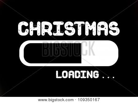 Progress Bar Loading with the text: Christmas