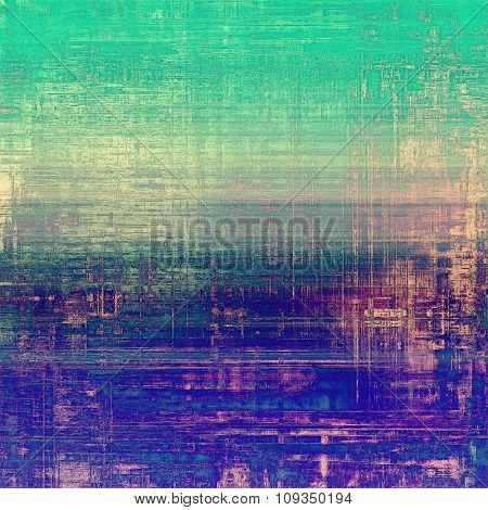 Designed background in grunge style. With different color patterns: yellow (beige); green; blue; purple (violet)