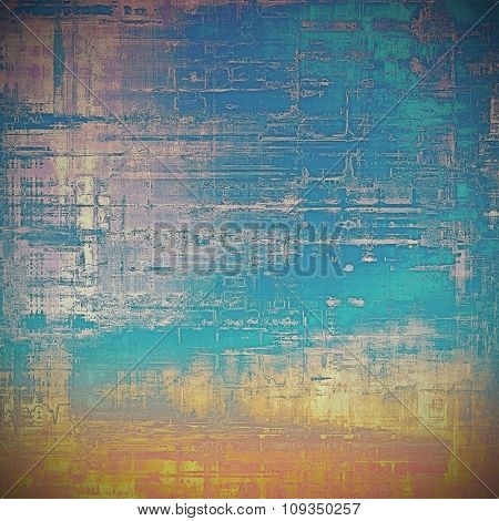 Antique vintage texture or background. With different color patterns: yellow (beige); blue; gray; cyan