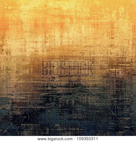 Cracks and stains on a vintage textured background. With different color patterns: yellow (beige); brown; black; red (orange)