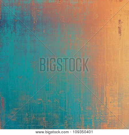 Old, grunge background texture. With different color patterns: yellow (beige); blue; red (orange); cyan