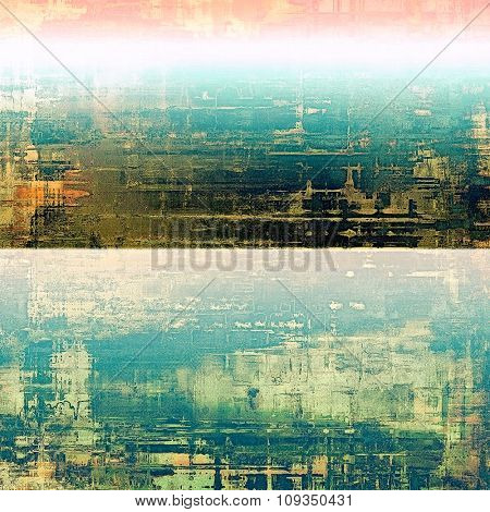 Old texture - ancient background with space for text. With different color patterns: yellow (beige); green; blue; pink