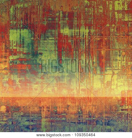 Retro background with old grunge texture. With different color patterns: yellow (beige); brown; green; red (orange)