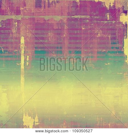 Old Texture. With different color patterns: yellow (beige); green; purple (violet); pink