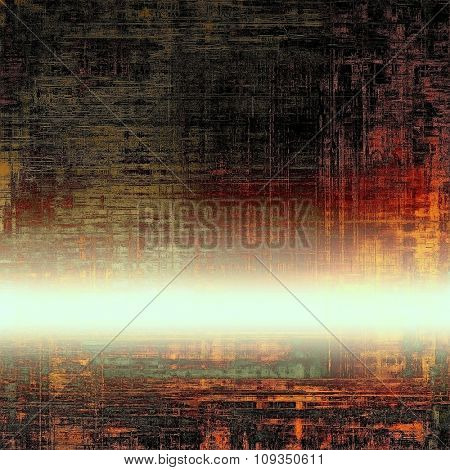 Dirty and weathered old textured background. With different color patterns: yellow (beige); black; red (orange); white