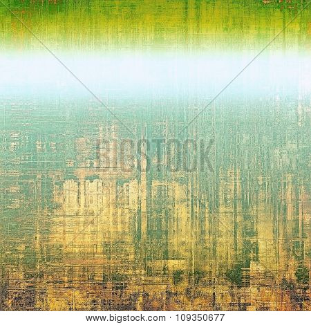 Retro background with grunge texture. With different color patterns: yellow (beige); green; blue; white