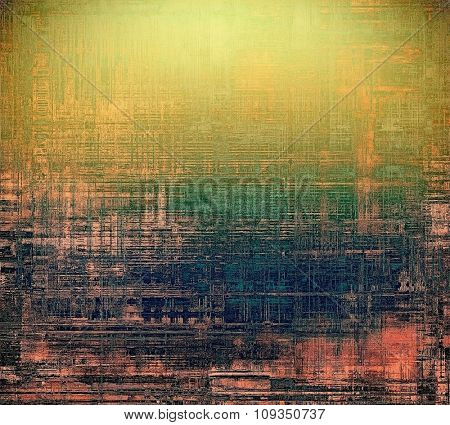 Antique vintage texture or background. With different color patterns: yellow (beige); brown; green; blue