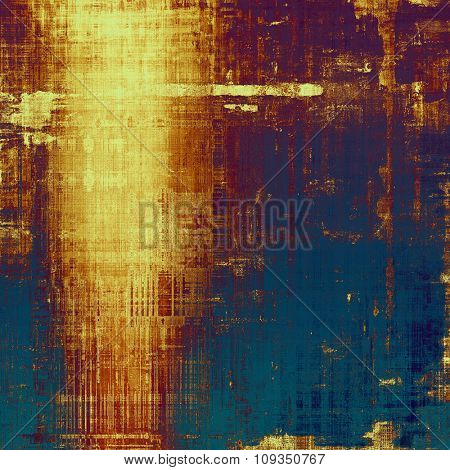 Retro background with grunge texture. With different color patterns: yellow (beige); brown; blue; purple (violet)