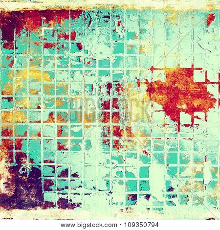 Retro background with grunge texture. With different color patterns: yellow (beige); purple (violet); red (orange); white