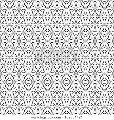 Seamless monochrome hexagonal pattern