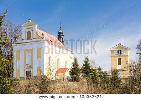 Saint Havel church in Tuhan, Czech Republic