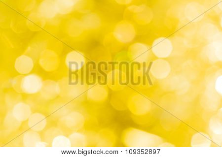 Festive Abstract Blurred Golden Background