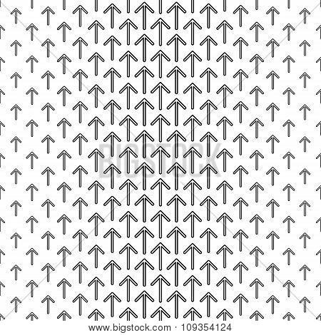 Black white seamless arrow pattern