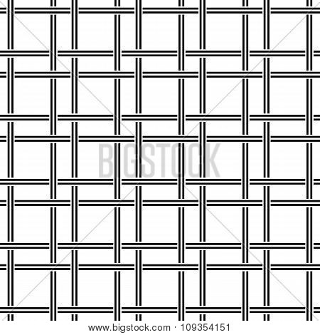 Black white seamless line pattern design