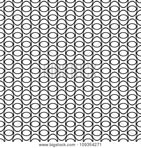 Black and white seamless ellipse pattern