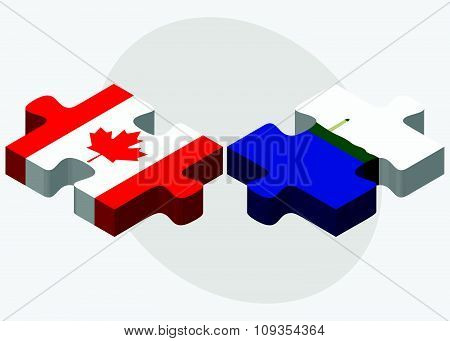 Canada And Navassa Island Flags