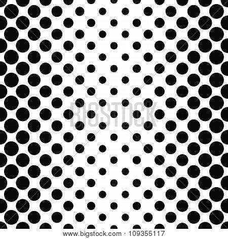 Black white seamless vertical dot pattern