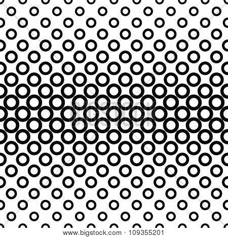 Horizontal repeating black white circle pattern