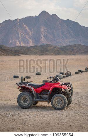 Atv Quad Bike In The Desert