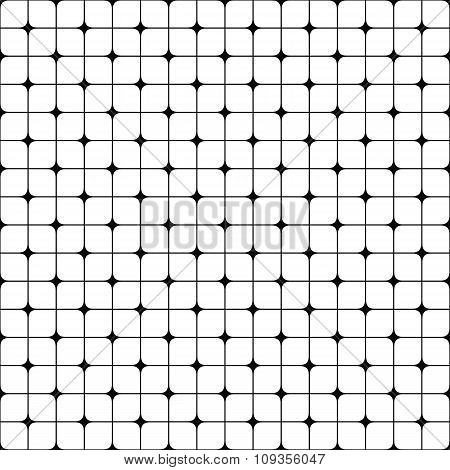 Abstract seamless monochrome grid pattern