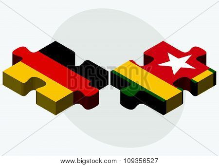 Germany And Togo Flags