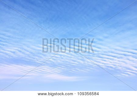 Sky with clouds, may be used as background
