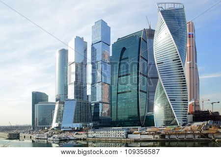 Towers of Moscow City (2015 year)