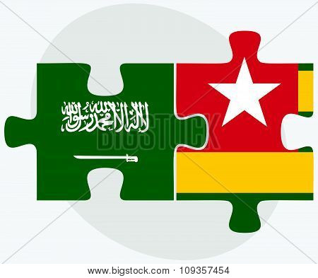 Saudi Arabia And Togo Flags